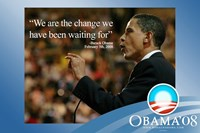 "Barack Obama - (We Are The Change) Campaign Poster - 17"" x 11"""