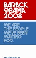 "Barack Obama - (Red, White and Blue) Campaign Poster - 11"" x 17"""