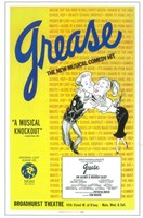"""Grease (Broadway) New Musical Comedy - 11"""" x 17"""" - $15.49"""