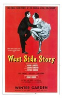 West Side Story (Broadway) red cover Framed Print