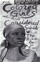 For Colored Girls Who Have Considered Suicide/When the Rainbow is Enuf (Broadway) Fine Art Print
