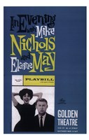 """Evening with Mike Nichols and Elaine May (Broadway) - 11"""" x 17"""", FulcrumGallery.com brand"""