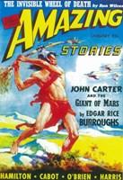"Amazing Stories (Pulp) - man fighting - 11"" x 17"""