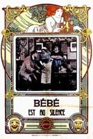 "Bebe est au silence - 11"" x 17"", FulcrumGallery.com brand"