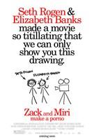 "Zack and Miri Make A Porno - stick figures - 11"" x 17"", FulcrumGallery.com brand"