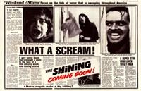 The Shining - news paper Fine Art Print