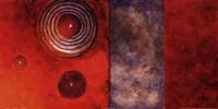 Red Spirals II Framed Print