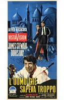 """The Man Who Knew Too Much Film In Italian - 11"""" x 17"""""""