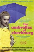 """The Umbrellas of Cherbourg Blue Umbrella - 11"""" x 17"""""""