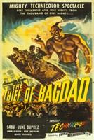 "The Thief of Bagdad Genie - 11"" x 17"", FulcrumGallery.com brand"
