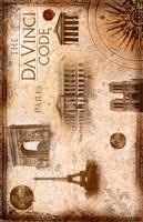 "The Da Vinci Code Famous Places - 11"" x 17"", FulcrumGallery.com brand"