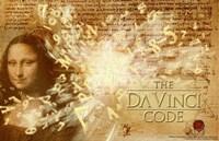 "The Da Vinci Code Mona Lisa Text - 17"" x 11"", FulcrumGallery.com brand"