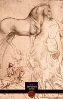 "The Da Vinci Code Horse Sketch - 11"" x 17"", FulcrumGallery.com brand"