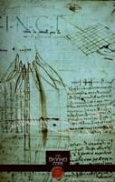 "The Da Vinci Code Green Sketch - 11"" x 17"", FulcrumGallery.com brand"