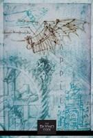 "The Da Vinci Code Blue Sketch - 11"" x 17"", FulcrumGallery.com brand"