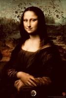 "The Da Vinci Code Mona Lisa Splatter - 11"" x 17"", FulcrumGallery.com brand"