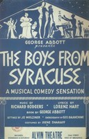 """The (Broadway) Boys From Syracuse - 11"""" x 17"""""""