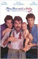 "Three Men and a Baby - 11"" x 17"", FulcrumGallery.com brand"