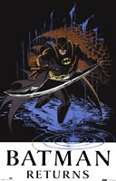 Batman Returns Comic Throwing Blade Fine Art Print