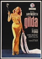 Gilda Rita Hayworth with Coat Fine Art Print