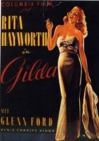 Gilda Rita Hayworth Smoking Fine Art Print