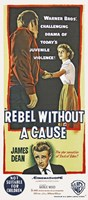 Rebel Without a Cause Vertical Teenage Violence Fine Art Print