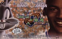 Space Jam - Bugs and Michael Framed Print