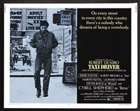 Taxi Driver Light Blue Horizontal Fine Art Print