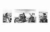 Easy Rider (triptych) Fine Art Print