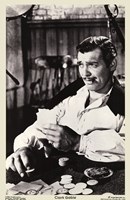 Gone With The Wind Clark Gable Black & White Fine Art Print