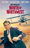 """North By Northwest Running from Airplane - 11"""" x 17"""""""