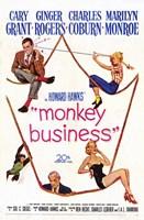 """Monkey Business M ovie - 11"""" x 17"""""""
