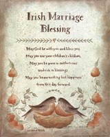 Irish Marriage Blessing Framed Print