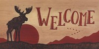 """Moose Welcome by Becca Barton - 20"""" x 10"""""""