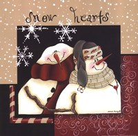 Snow Hearts Fine Art Print
