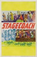 "Stagecoach Yellow Border - 11"" x 17"""