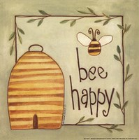 Bee Happy Framed Print