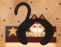 "Ameri-Cat by Fiddlestix - 14"" x 11"" - $9.99"
