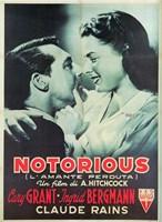 Notorious Cary Grant Ingrid Bergmann Fine Art Print