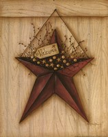 Welcome Barn Star Fine Art Print