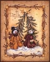 Snow Folk Faith Fine Art Print