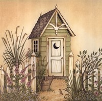 Cottage Outhouse II Fine Art Print