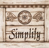 Simplify Framed Print