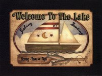 """Welcome to the Lake by Linda Spivey - 16"""" x 12"""""""