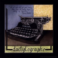 Dactylographe Fine Art Print