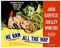 """He Ran all the Way Shelley Winters - 17"""" x 11"""""""