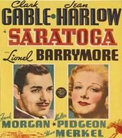 """Saratoga With Clark Gable - 11"""" x 17"""""""