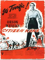"Citizen Kane B&W with Red - 11"" x 17"" - $15.49"