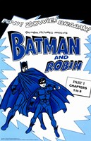 Batman and Robin Blue Fine Art Print