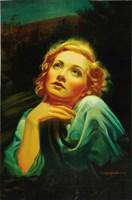 """Blonde Venus - looking up - 11"""" x 17"""""""